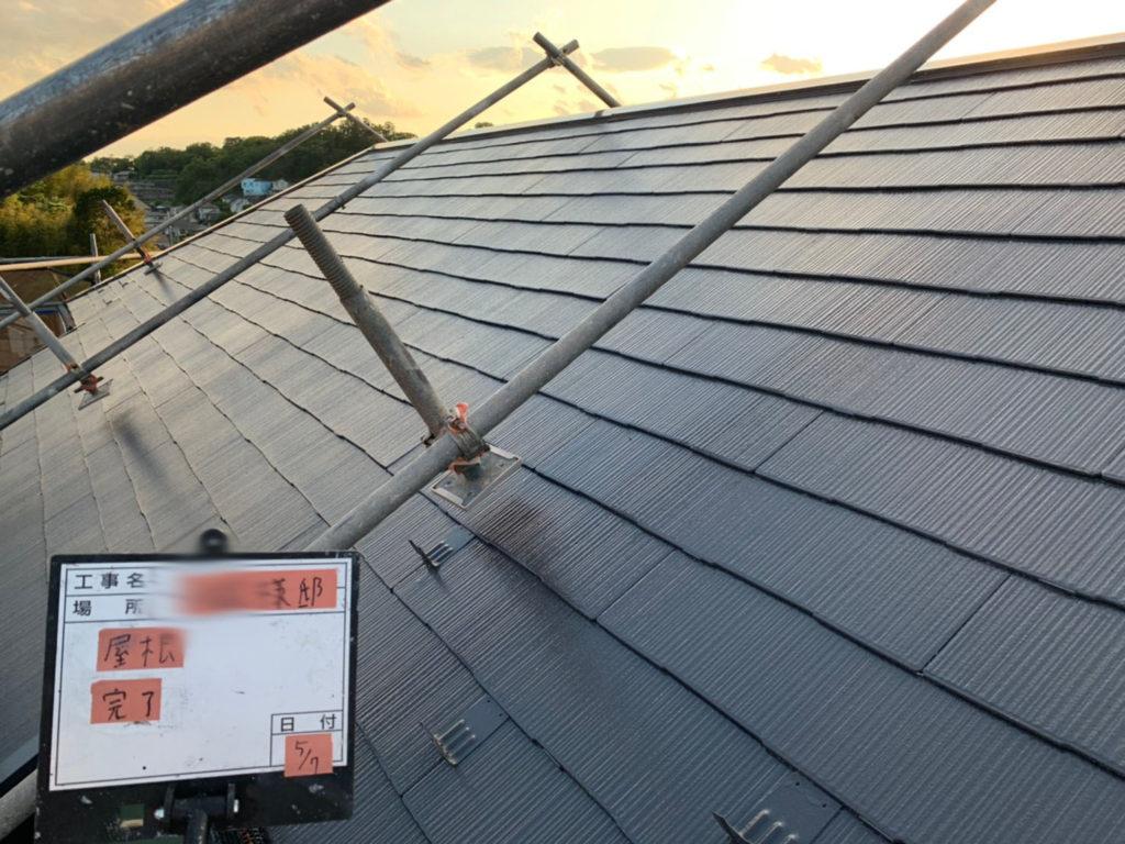 横浜市港南区の外壁塗装の屋根施工完了後画像