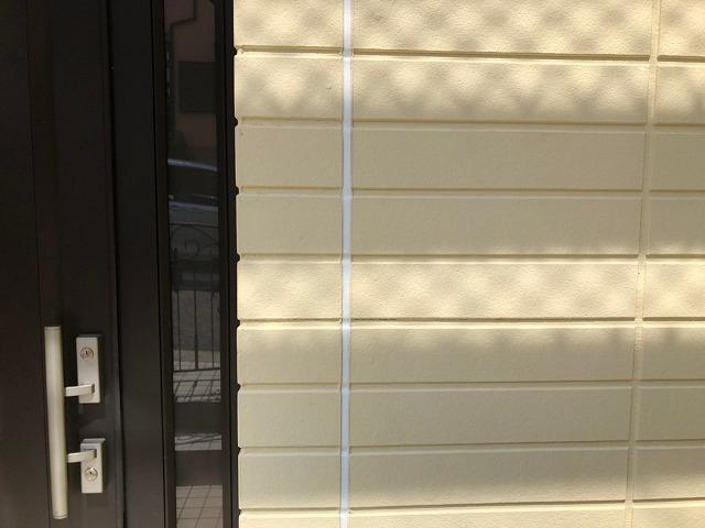 横浜市南区のお客様外壁塗装のシーリング施工完了