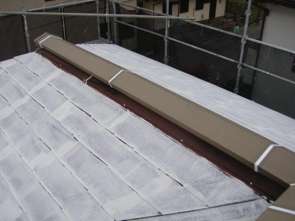 千葉県市原市の外壁塗装のお客様屋根下塗り