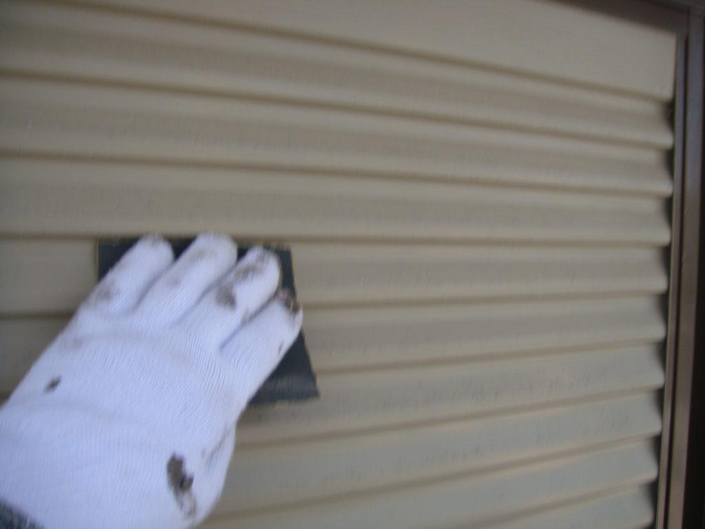 千葉市原市の外壁塗装の雨戸塗装施工前