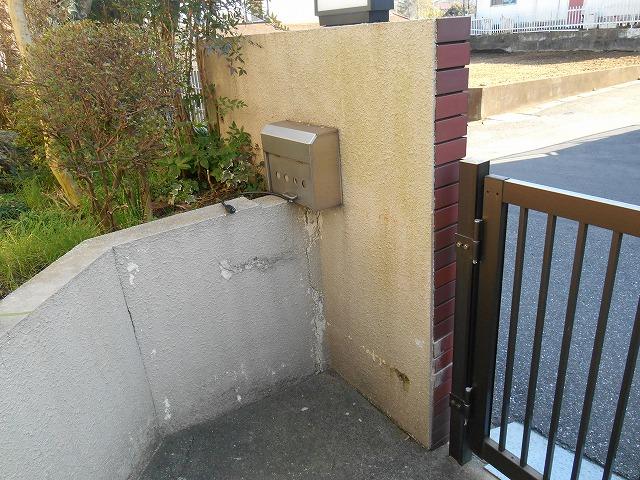 千葉市原市の外壁塗装の門塀施工前画像