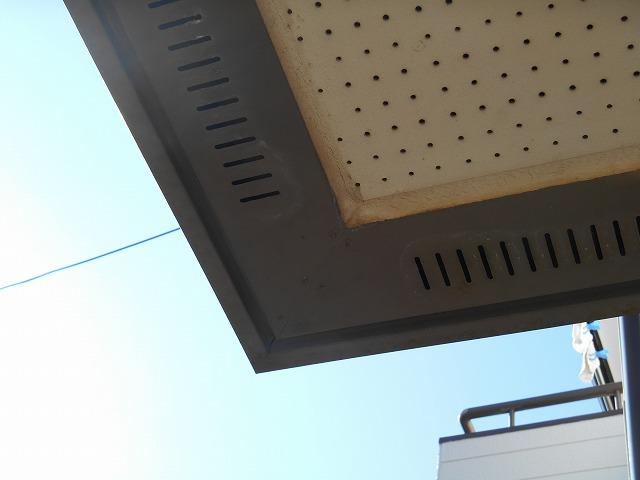 千葉市原市の外壁塗装の軒天塗装施工前