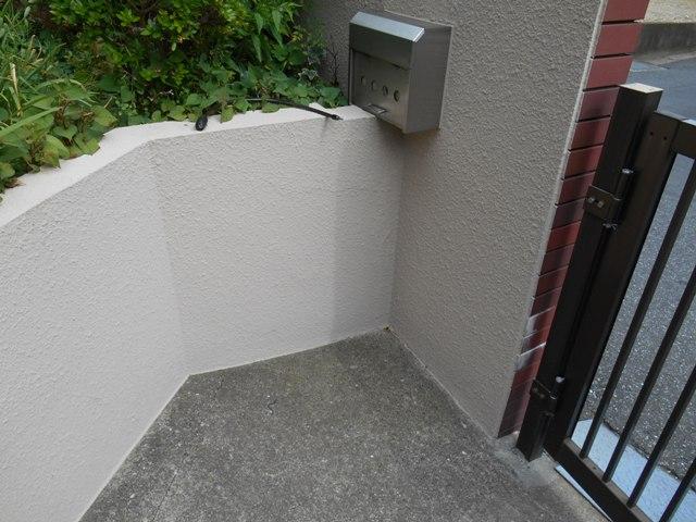 千葉市原市の外壁塗装の門塀塗装施工完了後