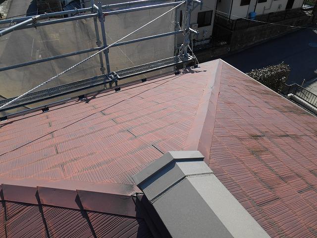 千葉市原市の外壁塗装の屋根塗装前写真